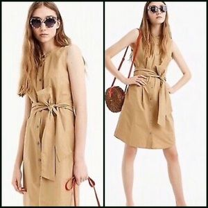 NWT J. Crew Collection Tan Cotton Dress